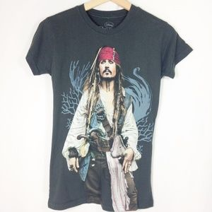 Disney Pirates of the Caribbean Johnny Depp Tee M